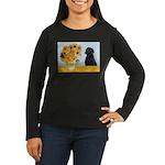 Sunflowers / Lab Women's Long Sleeve Dark T-Shirt