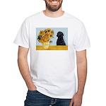 Sunflowers / Lab White T-Shirt