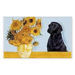 Sunflowers / Lab Sticker (Rectangle)