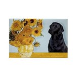 Sunflowers / Lab Rectangle Magnet