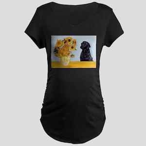 Sunflowers / Lab Maternity Dark T-Shirt