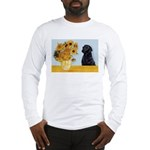 Sunflowers / Lab Long Sleeve T-Shirt