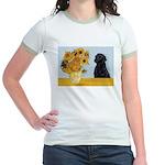 Sunflowers / Lab Jr. Ringer T-Shirt
