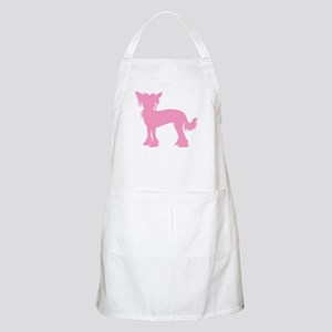 Chinese Crested Pink BBQ Apron
