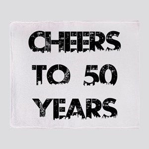 Cheers To 50 Years Designs Throw Blanket