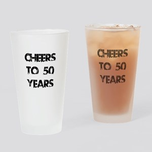 Cheers To 50 Years Designs Drinking Glass