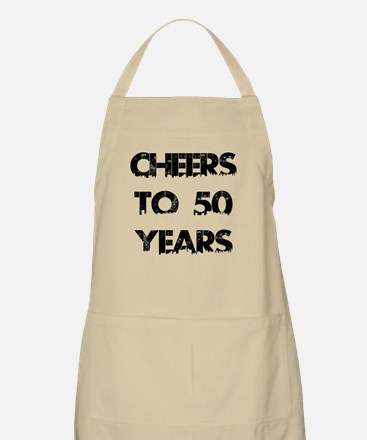 Cheers To 50 Years Designs Apron