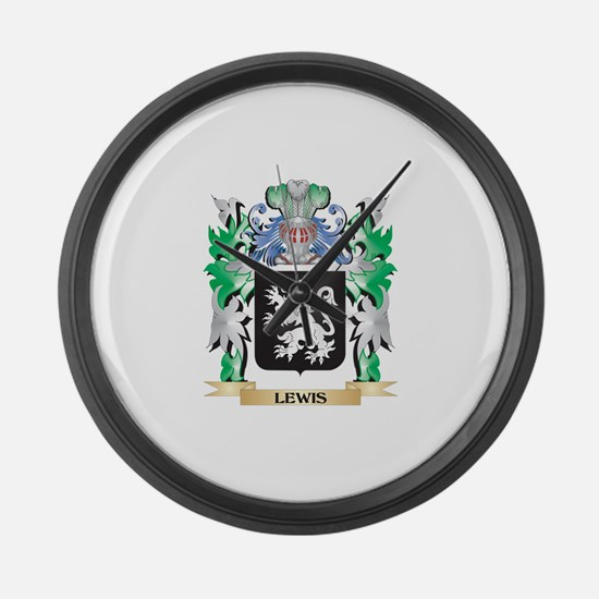 Lewis Coat of Arms - Family Crest Large Wall Clock