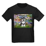 Lilies / Schnauzer Kids Dark T-Shirt