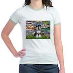 Lilies / Schnauzer Jr. Ringer T-Shirt
