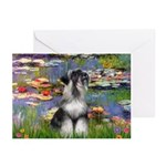 Lilies / Schnauzer Greeting Cards (Pk of 20)