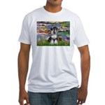 Lilies / Schnauzer Fitted T-Shirt