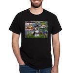 Lilies / Schnauzer Dark T-Shirt