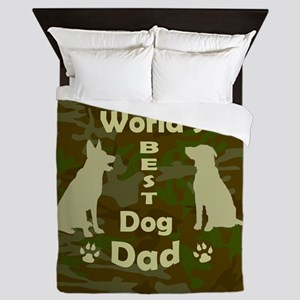 Worlds Best Dog Dad Queen Duvet