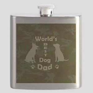 Worlds Best Dog Dad Flask