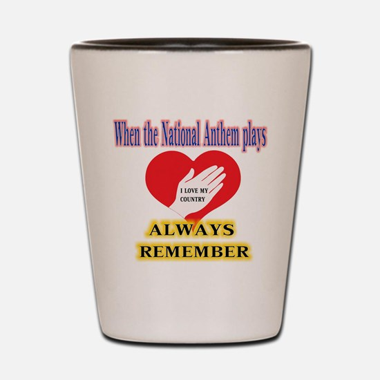Hand Over Your Heart Shot Glass