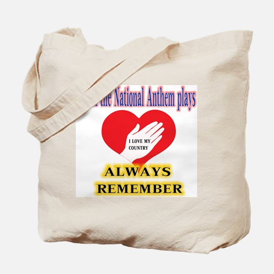 Hand Over Your Heart Tote Bag
