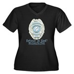 Baby Blue Badge (blue womens Women's Plus Size V-