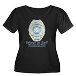 Baby Blue Badge (blue womens Women's Plus Size Sc