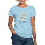Baby Blue Badge (blue womens Women's Light T-Shir