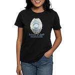 Baby Blue Badge (blue womens Women's Dark T-Shirt
