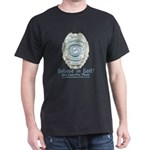 Baby Blue Badge (blue womens Dark T-Shirt