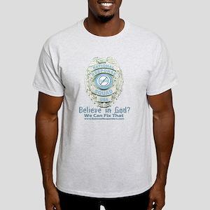 Baby Blue Badge (blue womens Light T-Shirt