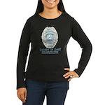 Baby Blue Badge (blue womens Women's Long Sleeve
