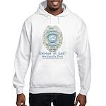 Baby Blue Badge (blue womens Hooded Sweatshirt