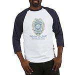 Baby Blue Badge (blue womens Baseball Jersey