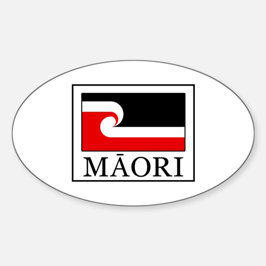 Cute Maori Sticker (Oval)