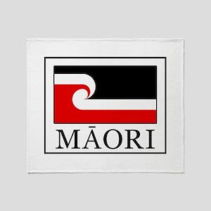 Maori Flag Throw Blanket