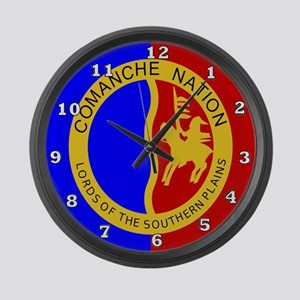 Comanche Nation Seal Large Wall Clock