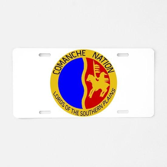 Comanche Nation Seal Aluminum License Plate