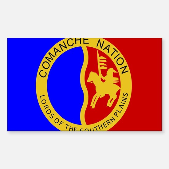 Comanche Nation Seal Sticker (Rectangle)