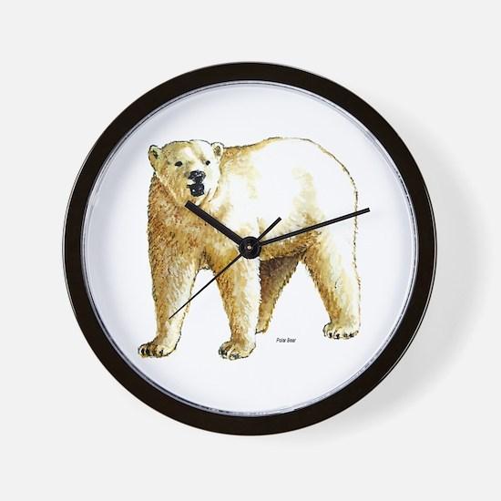 Polar Bear Wall Clock