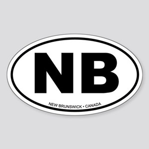 New Brunswick Oval Sticker