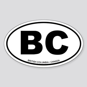 British Columbia Oval Sticker