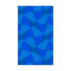 Blue Fractals Sticker (Rectangle)