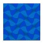 Blue Fractals Tile Coaster