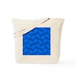 Blue Fractals Tote Bag