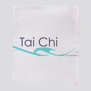 Tai Chi Wave 1 Throw Blanket