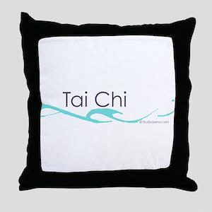 Tai Chi Wave 1 Throw Pillow