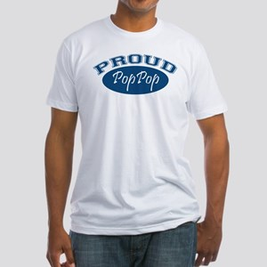 Proud PopPop (blue) Fitted T-Shirt