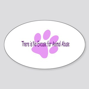 No Excuses Oval Sticker