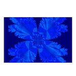 Blue Flower Fractal Postcards (Package of 8)