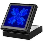 Blue Flower Fractal Keepsake Box