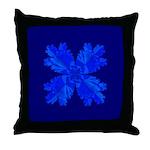 Blue Flower Fractal Throw Pillow