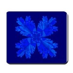 Blue Flower Fractal Mousepad