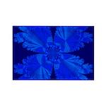 Blue Flower Fractal Rectangle Magnet (10 pack)